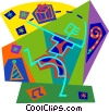 Vector Clip Art graphic  of a having party