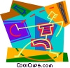 Vector Clipart graphic  of a painting on canvass