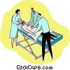 Vector Clip Art graphic  of a getting prepared for surgery