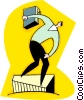 Vector Clipart graphic  of a man on a pedestal with his