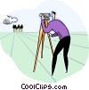 taking a photograph Vector Clipart picture