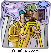 Camera man Vector Clip Art graphic