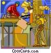 construction, men working Vector Clip Art picture