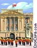 European building, changing of the guard Vector Clipart picture