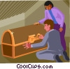 Vector Clip Art picture  of a treasure chest