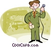 Vector Clipart illustration  of a game show host
