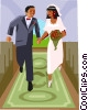 Wedding, bride and groom Vector Clip Art picture