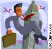 Vector Clipart image  of a business metaphor