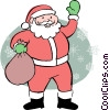 Vector Clip Art graphic  of a Santa Claus