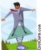Vector Clipart graphic  of a business metaphor
