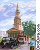 St. Martin-In-The-Fields Church Vector Clipart illustration