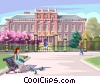 Vector Clip Art image  of a Kensington Palace