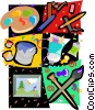 art motif, paint, brushes Vector Clip Art picture