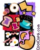 Vector Clipart image  of a breakfast toast