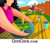 Vector Clipart picture  of a Bbq