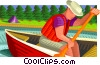 paddling, paddle Vector Clipart illustration