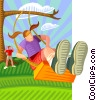 Vector Clip Art image  of a swing