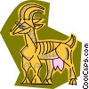 Vector Clipart graphic  of a goat