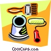 Vector Clip Art picture  of a paint roller