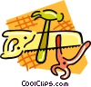 hack saw, pliers, hammer Vector Clip Art graphic