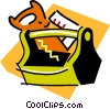 Vector Clipart image  of a toolbox