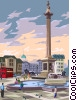 Vector Clip Art graphic  of a Trafalgar square