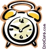 Vector Clipart image  of a clock