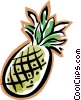 Vector Clipart graphic  of a pineapple