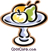 Vector Clipart picture  of a tray of fruit