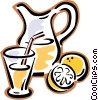 Lemonade, jug of juice Vector Clip Art image