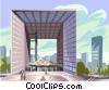 Vector Clip Art picture  of a La Grande Arche Paris Defense
