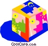 decorative box, cube Vector Clipart picture