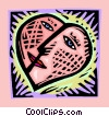 heart face in decorative box Vector Clip Art image