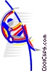 Vector Clipart graphic  of a pole vault