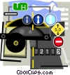 road signs Vector Clipart picture