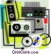stereo equipment Vector Clip Art graphic