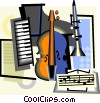 Vector Clip Art graphic  of a musical instruments