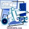 plane taking off Vector Clipart picture