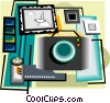 Vector Clipart image  of a photography equipment
