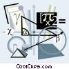 Vector Clip Art image  of a calculus motif
