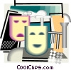 Vector Clip Art picture  of a happy/sad face