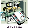 Vector Clipart graphic  of a Post office