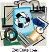 Recycling symbol, industry Vector Clipart illustration