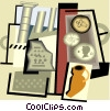 Vector Clip Art image  of an archeology