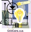 light bulb, electricity Vector Clip Art graphic