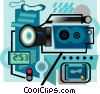 Vector Clip Art graphic  of a camcorder