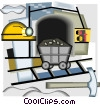Vector Clipart illustration  of a mining