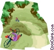 Mountain biking Vector Clipart picture