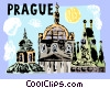 Church of St. Nicholas Prague Czech Republic Vector Clipart illustration