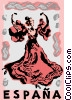 Spanish flamenco dancer Vector Clip Art picture